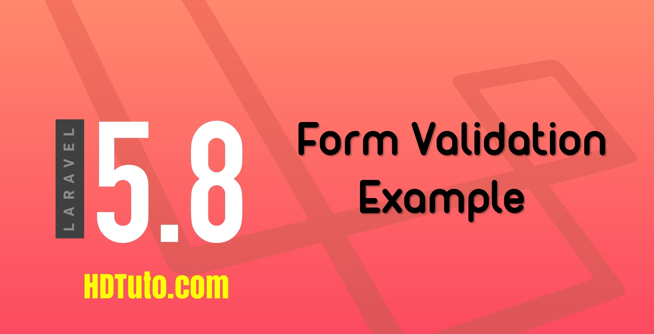 Laravel 5 8 form validation example - HDTuto com