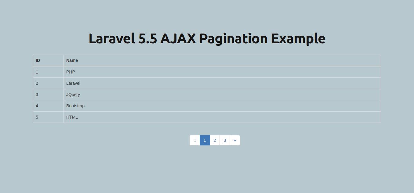 Laravel 5 5 Ajax Pagination Example - HDTuto com