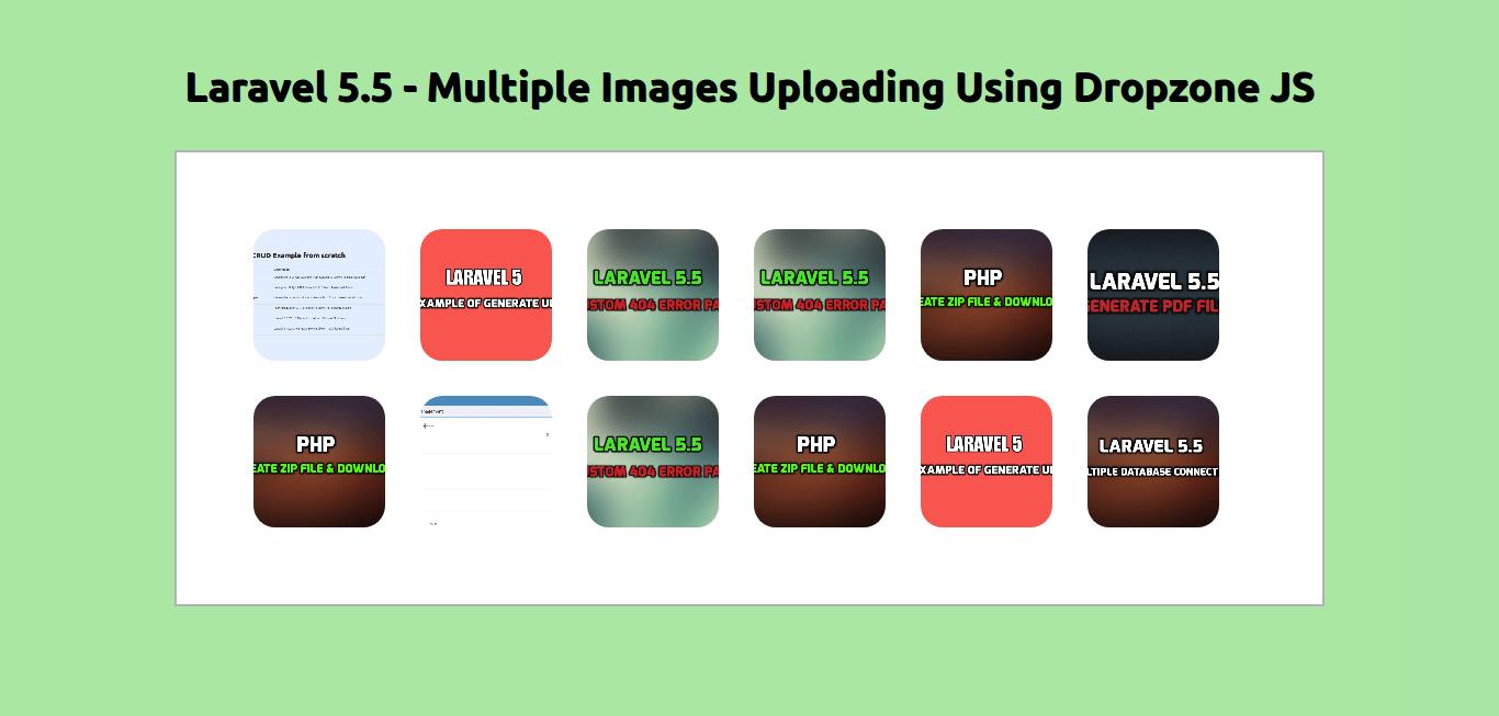 Laravel 5 5 - multiple images uploading using dropzone js