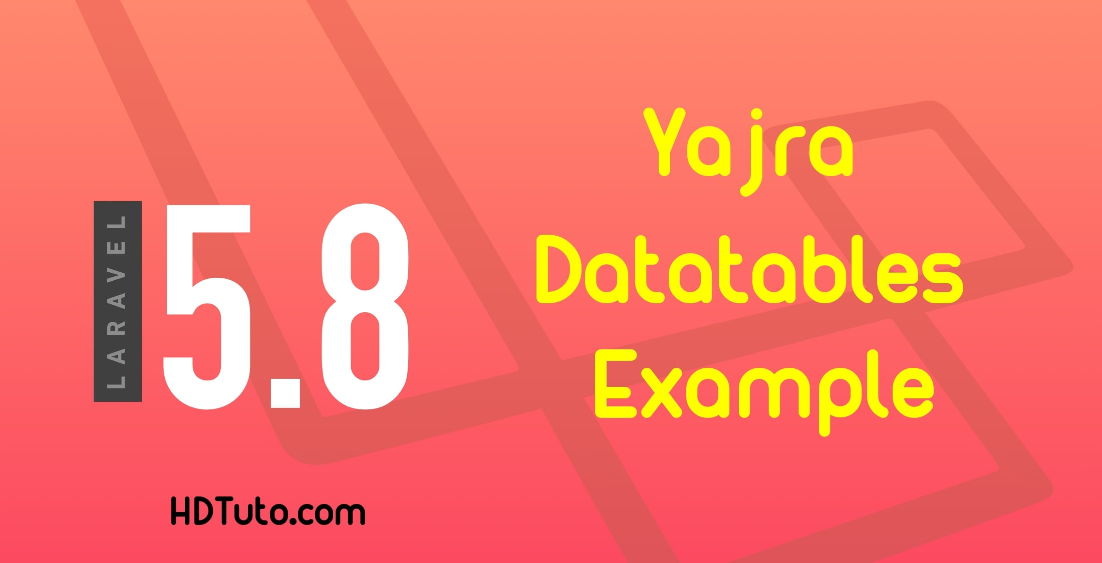 Yajra Datatables Laravel 5 8 Example - HDTuto com