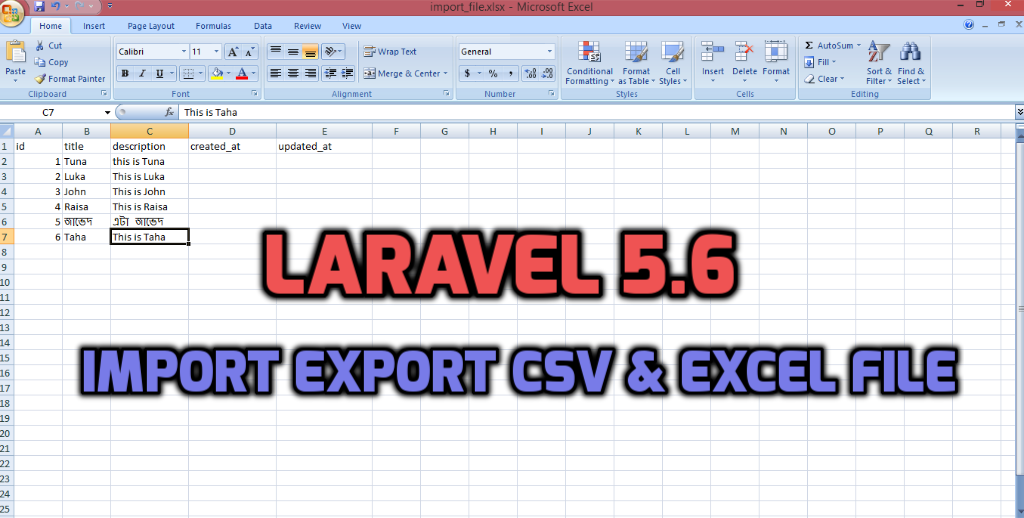 Laravel 5 6 - Excel and csv import export using maatwebsite example