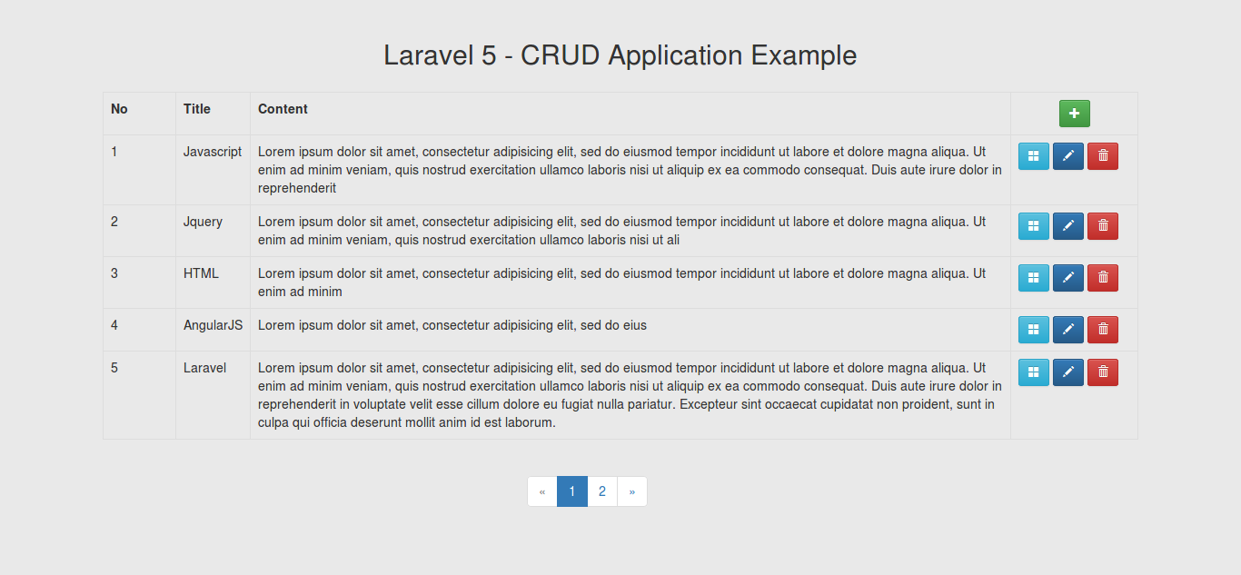 Laravel 5 Create Simple Crud Create Read Update Delete Application Example Hdtuto Com