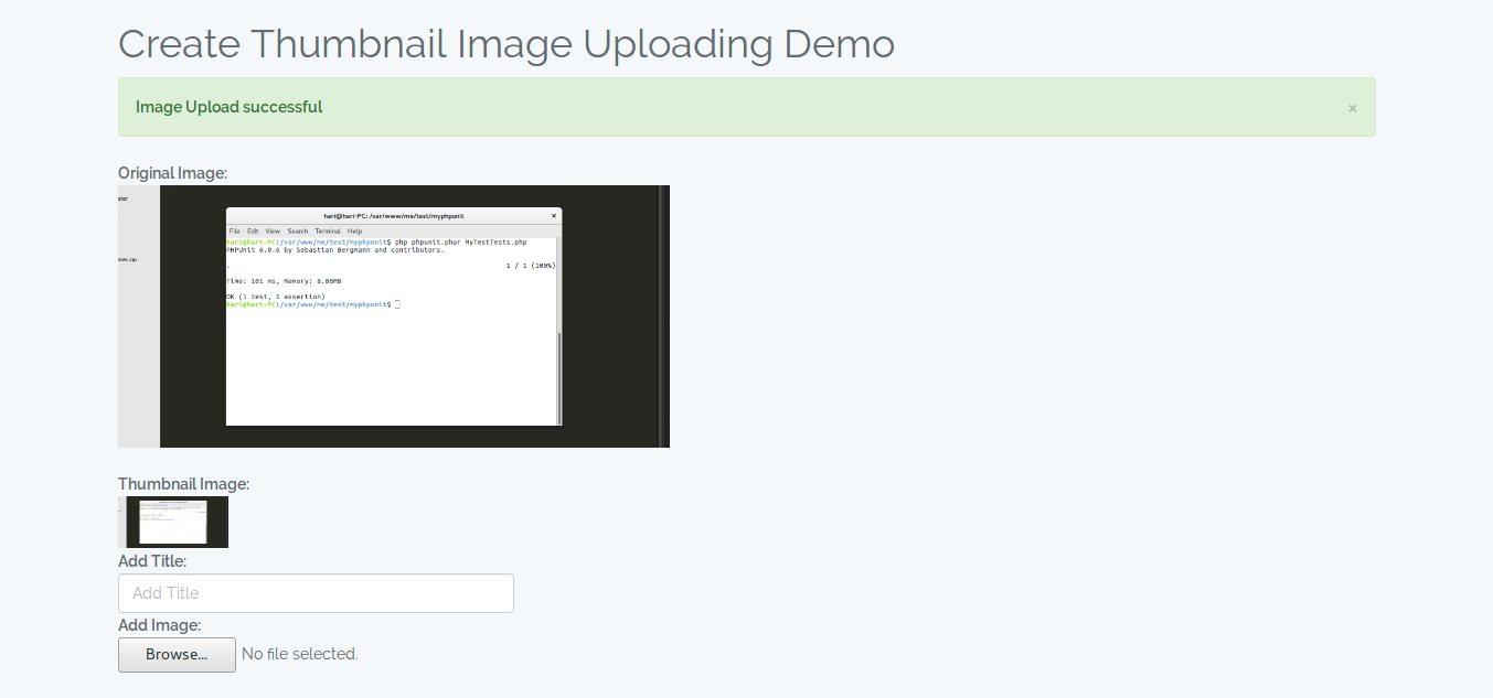 Laravel 5 - image upload with create thumbnail image example