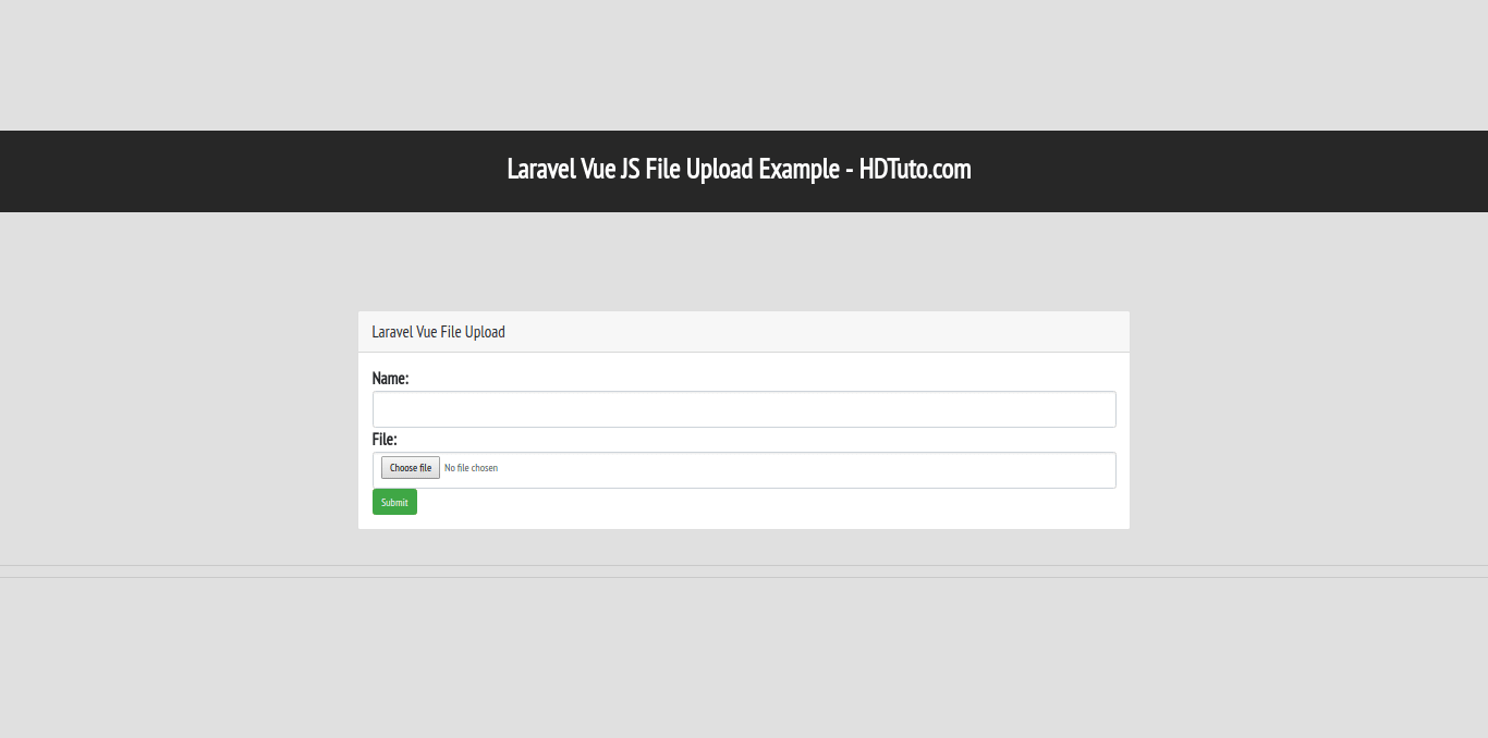Laravel - Vue JS File Upload Example - HDTuto com