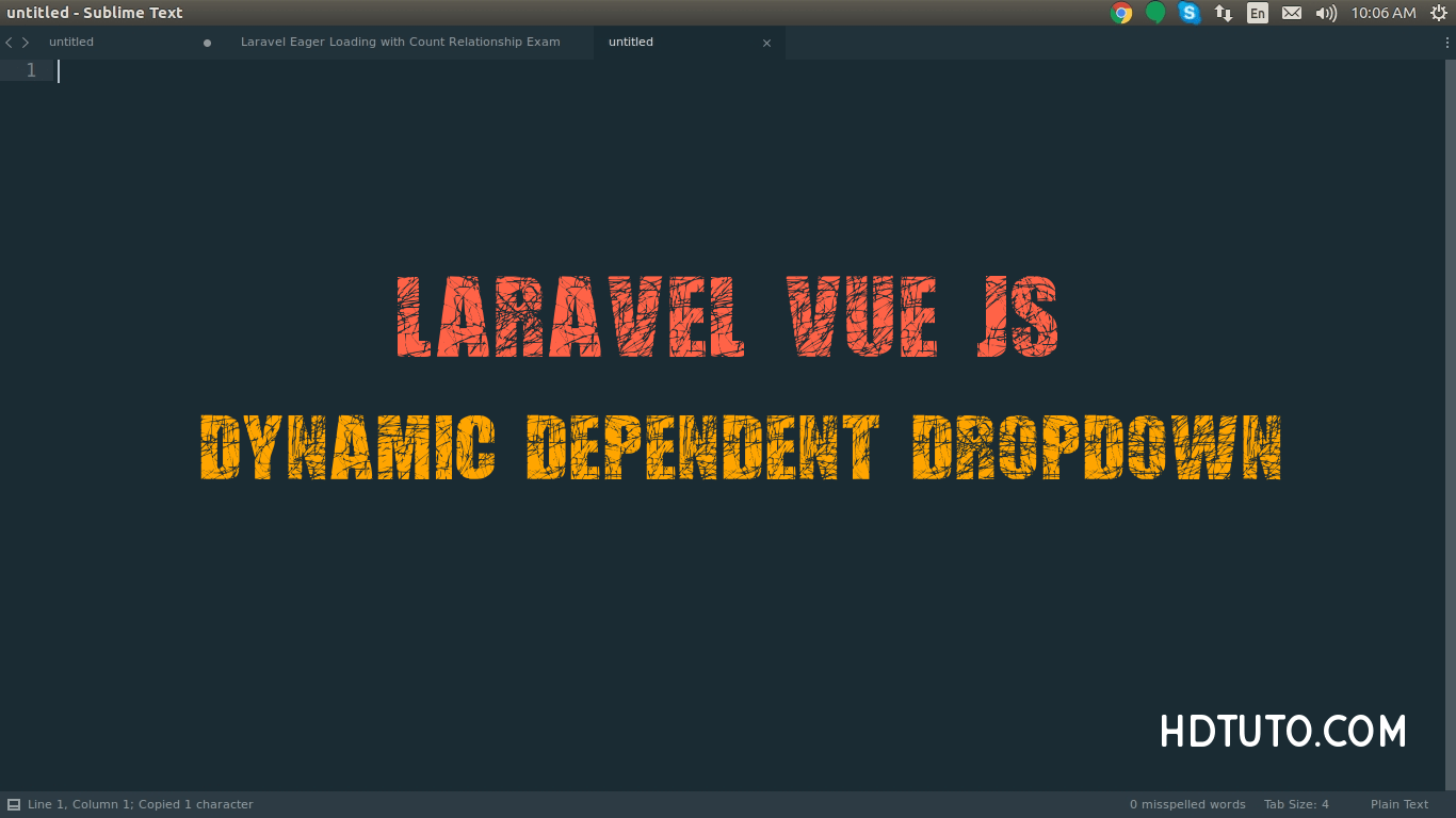 Dynamic Dependent Dropdown Using Vue JS and Laravel - HDTuto com